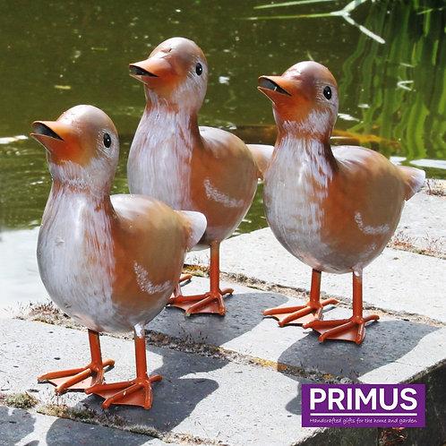 Small Metal Ducklings - Set of 3