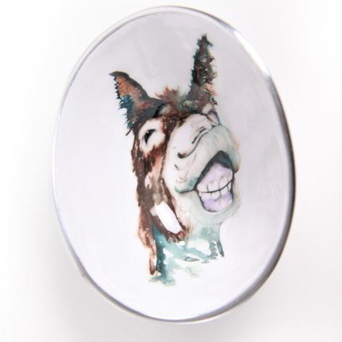 Delores the Donkey Oval Bowl Small