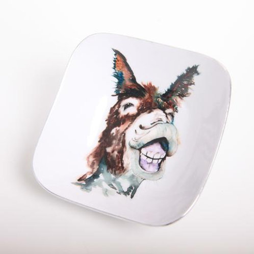 Delores the Donkey Square Bowl