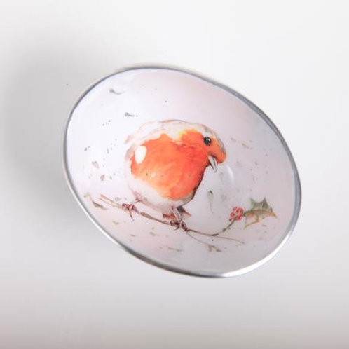 Robin & Holly Oval Bowl Petite