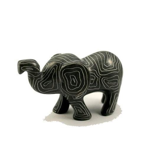 Champagne Grey Sagana Elephant 7cm