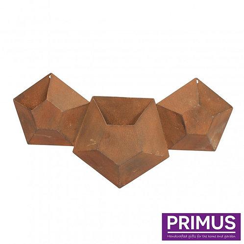 3 Pot Hexagonal Planter