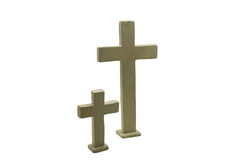 Standing Natural Soapstone Cross