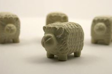 Mini Soapstone Sheep 3 cm