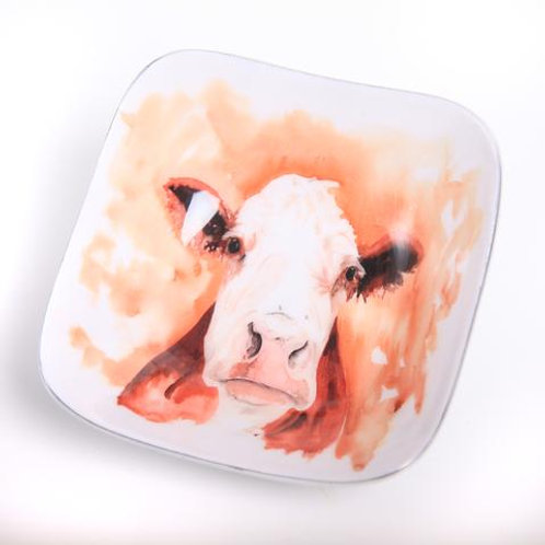 Hatty the Cow Square Bowl