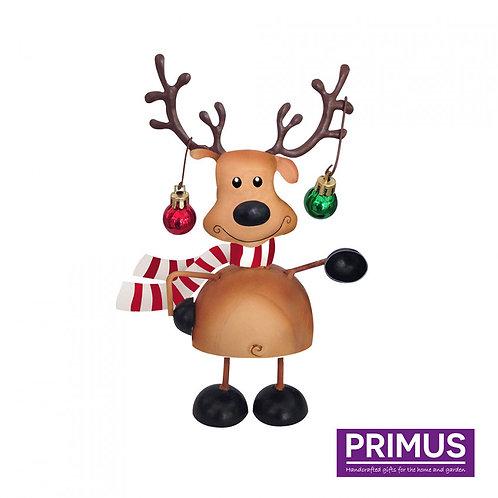 Miniature Metal Wobbling Reindeer