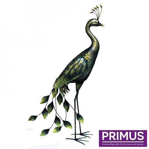 Antique Standing Metal Peacock