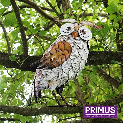 White Metal Owl