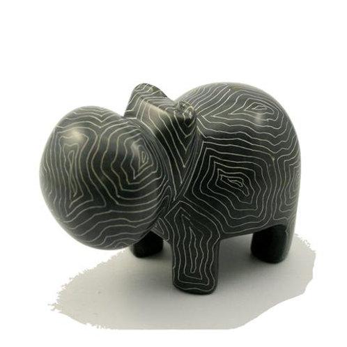 Champagne Grey Hippo 10cm