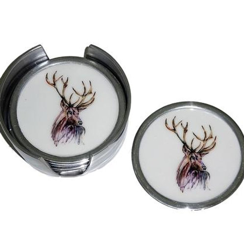 Stag Coasters Set of 6