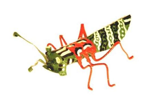 Hand Painted Tin Locust