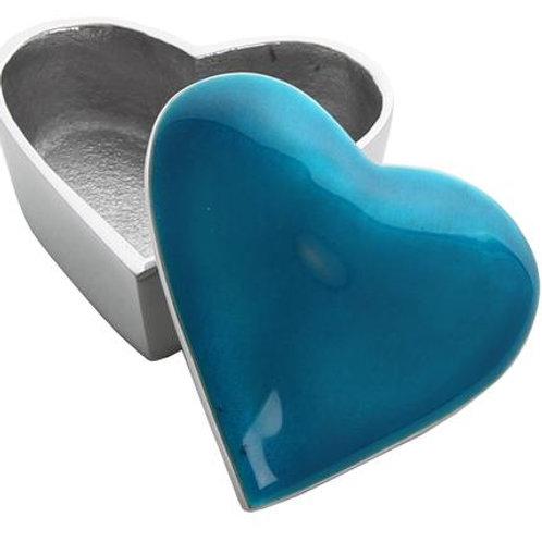 Aqua   Heart Trinket Box