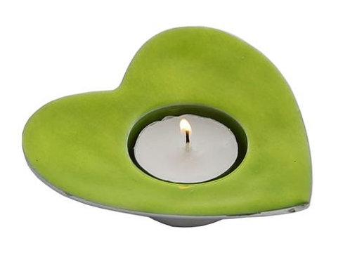 Lime  Heart T-Light Holder