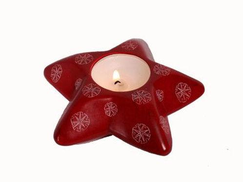 Star Snowflakes Tealight