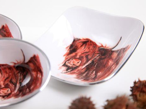 Highland Cow Myrtle Oval Bowl Petite