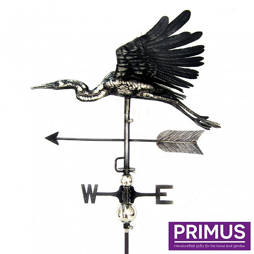 3D Flying Heron Weathervane with Garden Stake