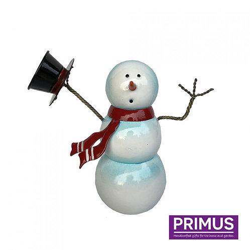 Miniature Metal Snowman