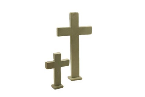 Standing Natural Soapstone Cross Large