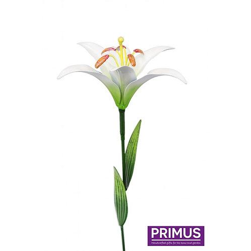 83cm Medium Metal Lily  Garden Stake-white
