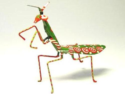 Hand Painted Tin Praying Mantis
