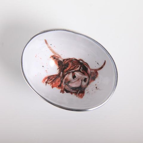 Highland Cow Oval Bowl Petite