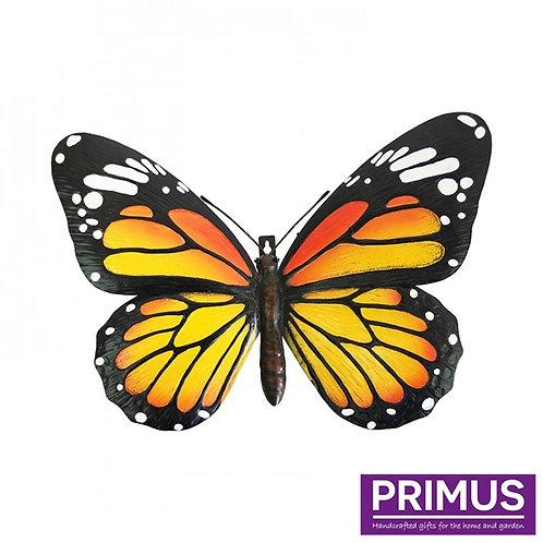 Giant Metal 3D Orange Butterfly