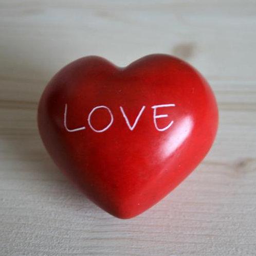 Red Love Round Heart - 5 cm