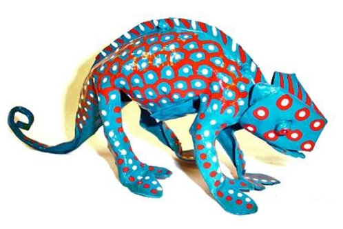 Hand Painted Tin Chameleon