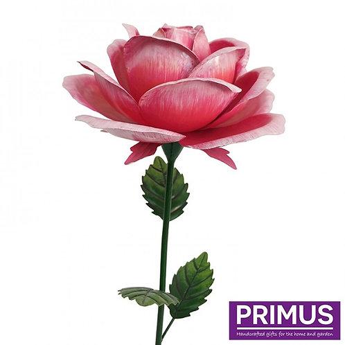 1.2m Giant Metal Rose Garden Stake - Pink