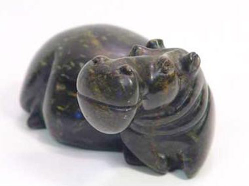 Abstract Soapstone Hippo 15 cm