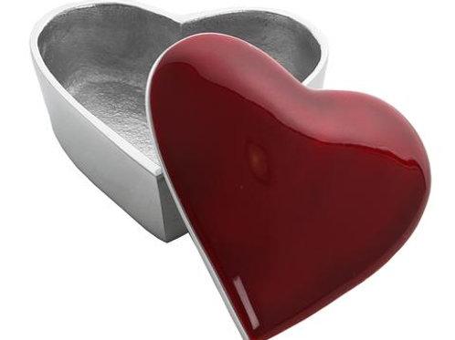 Red Heart Trinket Box