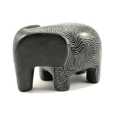 Champagne Grey Serengeti Elephant 10cm
