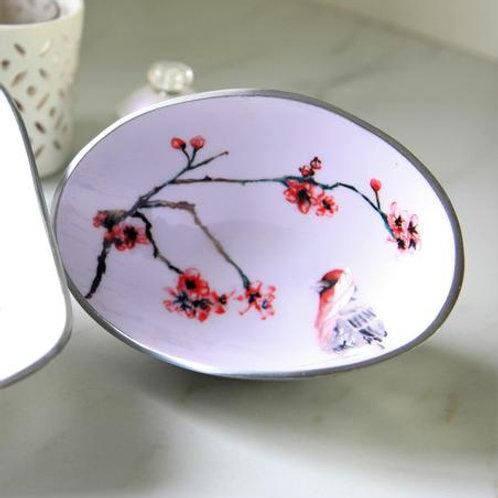 Japanese Blossom Oval Bowl Petite