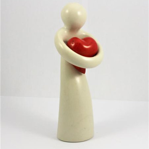 Natural Lady Holding Heart