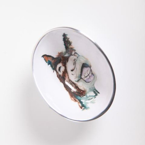 Delores the Donkey Oval Bowl Petite
