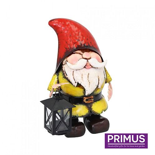 Metal Gnome with Candle Lantern