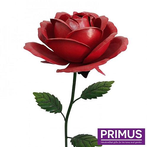1.2m Giant Metal Rose Garden Stake - Red