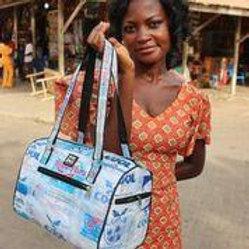Recycled Water Sachet Akoma Bag (Hand/Shoulder Bag)