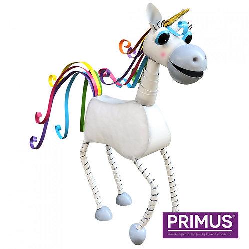 Small Metal Unicorn - White