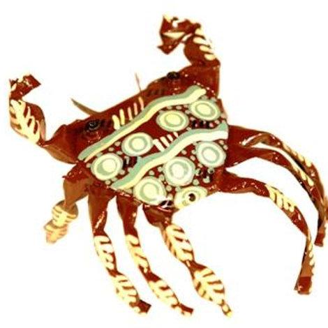 Hand Painted Tin Crab