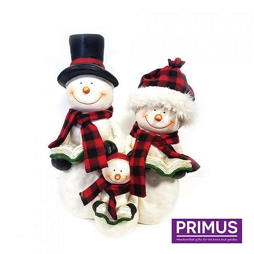 Snowman Family Carol-Singers