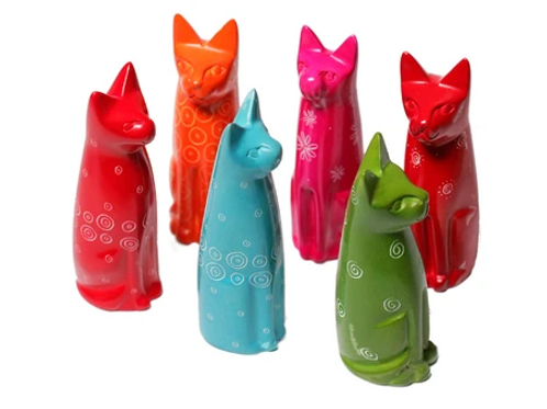 Sitting Coloured Cats