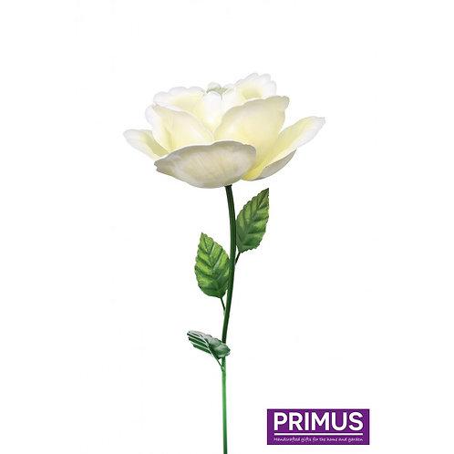 83cm Medium Metal Rose Garden Stake - White