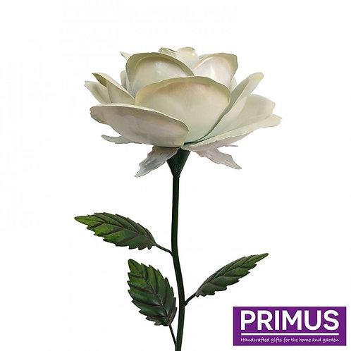 1.2m Giant Metal Rose Garden Stake - White