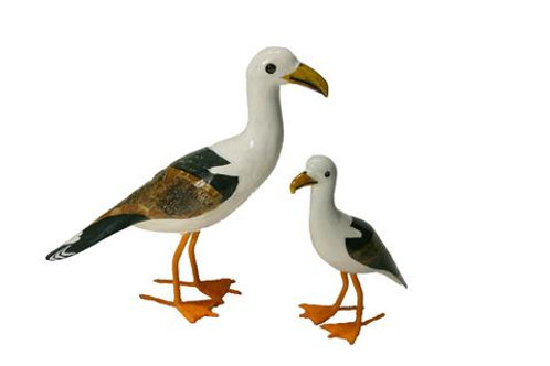 Painted Wooden Seagull - Large