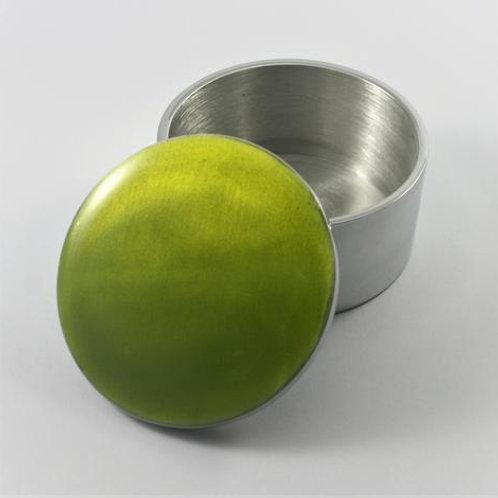 Lime Circular Trinket Box