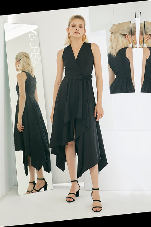 Asymmetry Ruffles Dress