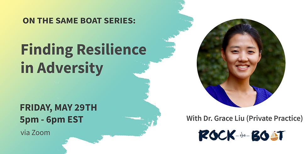 Dr. Grace Liu: Finding Resilience in Adversity