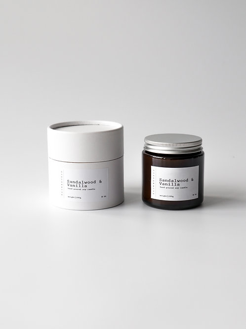 Sandalwood & Vanilla - Soy Wax Candle