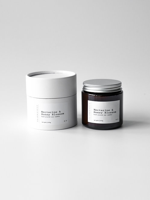 Nectarine & Honey Blossom - Soy Wax Candle